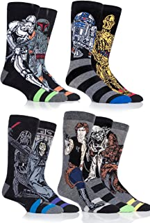 Men's 9 Pair SockShop Star Wars Original Heroes and Villains Cotton Socks
