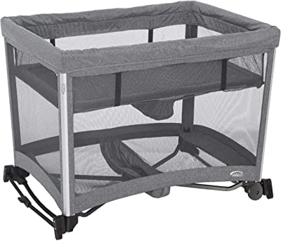 Amazon.com : Simmons Kids Oval City Sleeper Bassinet, Grey ...