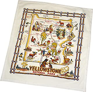 The Red & White Kitchen Co. YellowStone National Park Souvenir Dish Towel