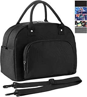 ORASANT Lunch Box, Large& Durable Water-resistant Cooler& Thermal Insulated Lunch Bag for Men and Women, Fashionable Black Lunch Tote with Detachable Shoulder Strap for Work, School, Beach, Picnic