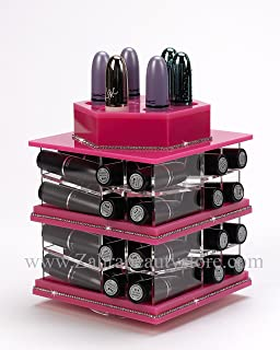 Zahra beauty Mini Spinning Lipstick Towers- Acrylic Lipstick Holders are Available.Patent Pending (Mini Rose)