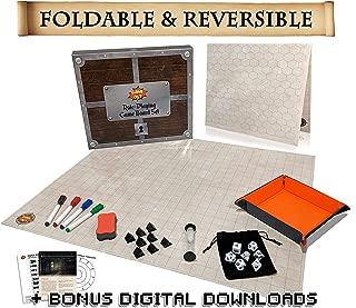 Foldable RPG Battle Grid Game Mat Set | 27