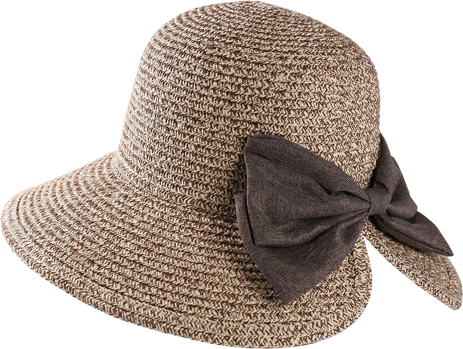 Aerusi Women's Haley Bow Bucket Straw Hat