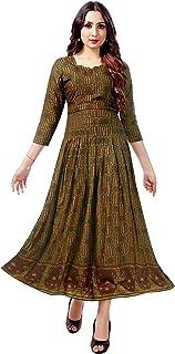 Venisa Women's Rayon Anarkali Kurta