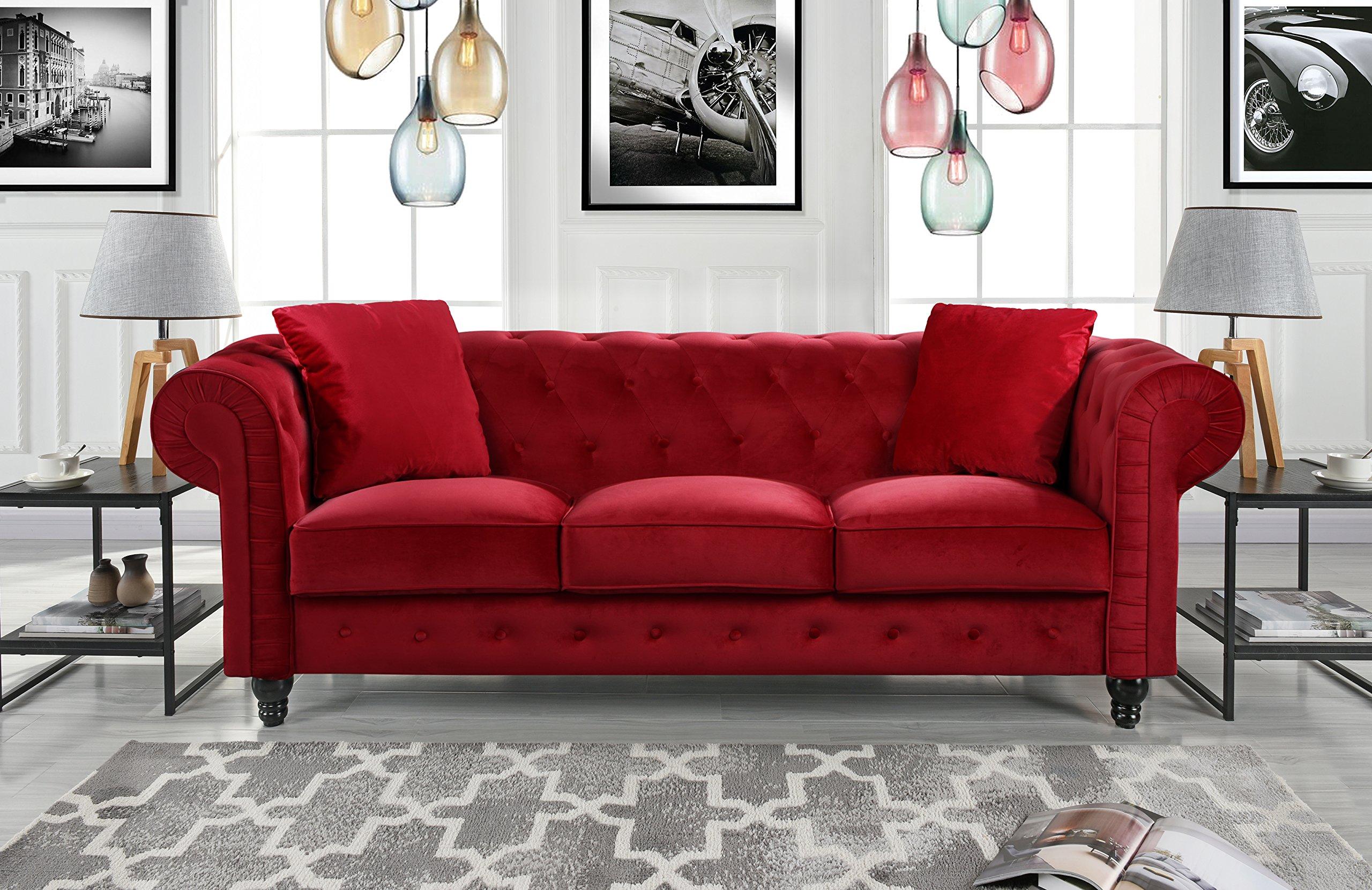 red velvet sofa amazon com rh amazon com red velvet sofa ikea red velvet sofa uk
