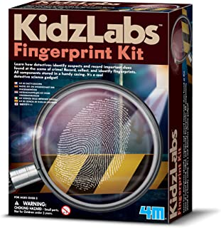 4M KidzLabs Fingerprint Kit - Spy Forensic Science Lab - Educational STEM Toys Gift for Kids & Teens, Boys & Girls