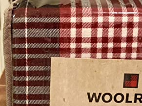 Woolrich Queen Size Cotton Plaid Flannel Sheet Set • Plaid Pattern (red White Navy Blue)