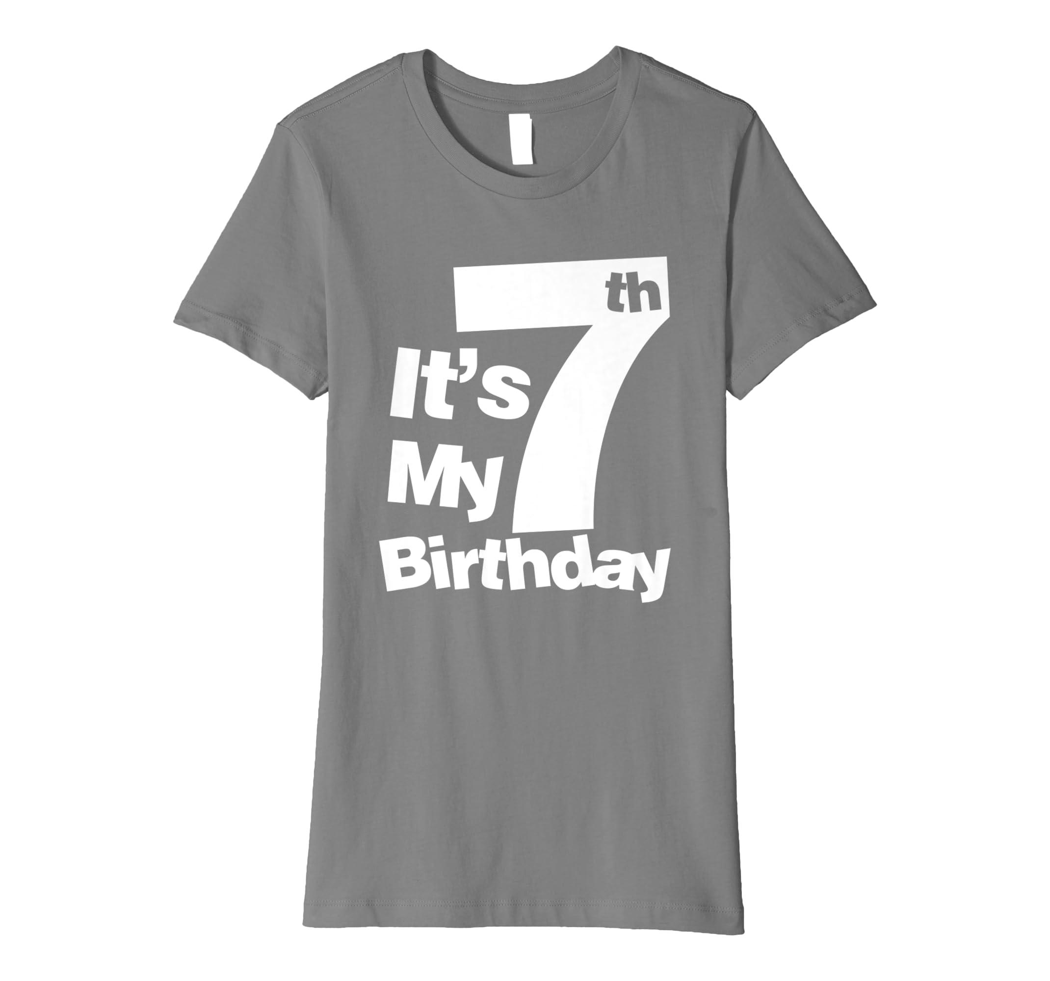 Amazon 7th Birthday Shirt Its My 7 T Clothing