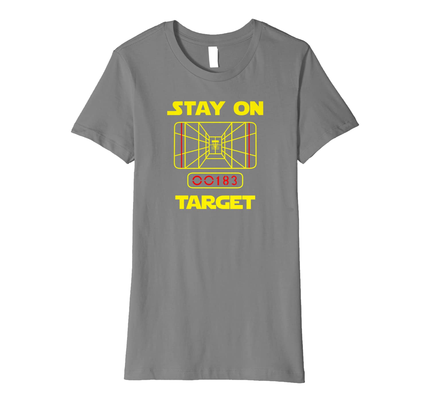 52906f5d2 Amazon.com: STAY ON TARGET- Disc Golf T-Shirt: Clothing
