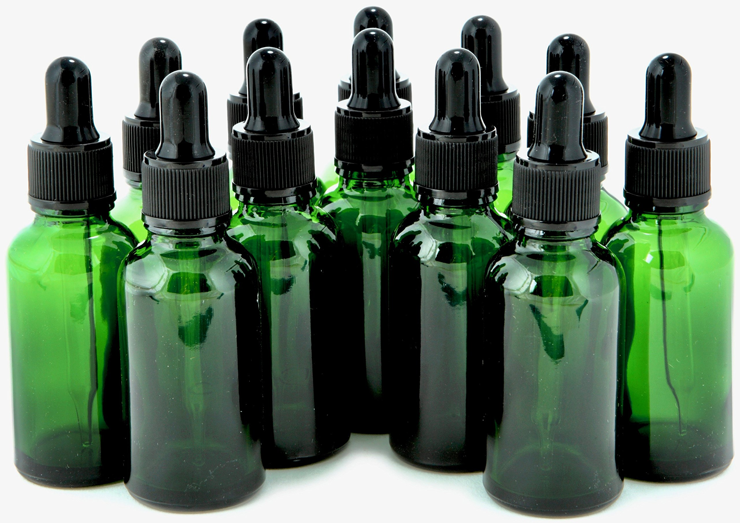 Vivaplex Green Glass Bottles Droppers