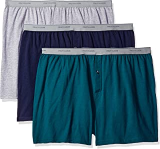 4f3401262 Fruit of the Loom Mens Big Man Knit Boxers (Pack of 3) Boxer Shorts
