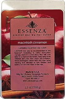 ESSENZA Scented Wax Warmer Cube Melts 7.5 oz | 3-Pack | 8 Cubes per Pack (24) (Macintosh Cinnamon)