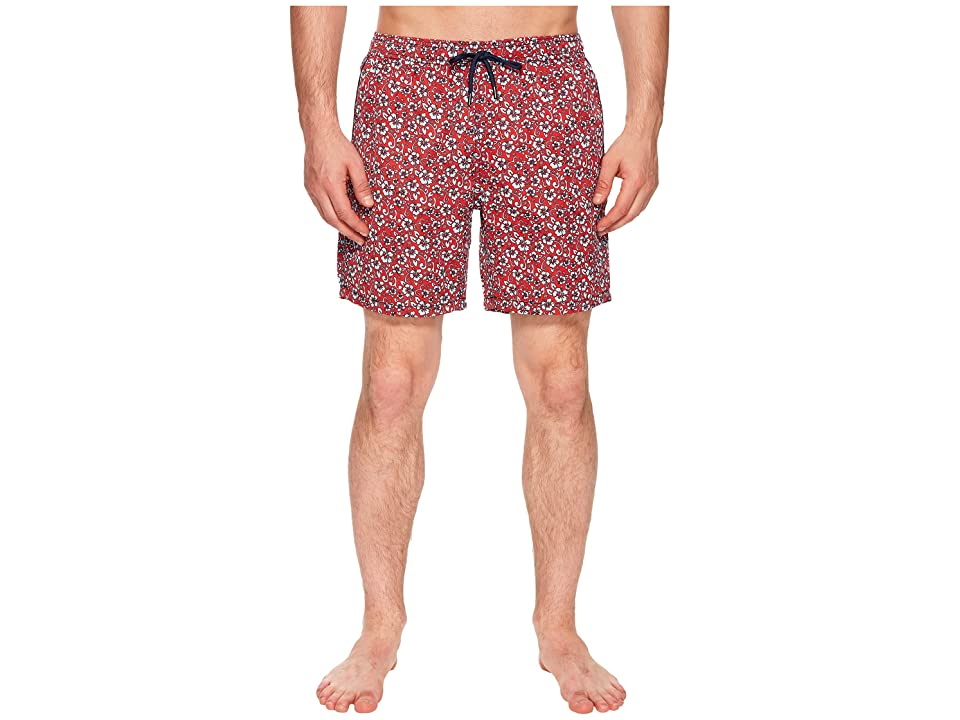 Mr. Swim Floral Printed Dale Swim Trunks (Red) Men