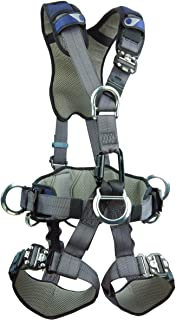 3M DBI-SALA ExoFit NEX 1113348 Full Body Rope Access/Rescue Harness, Alum Back/Front/Suspension D-Rings, Belt w/ Pad/Side D-Rings, Locking QC Leg Straps, X-Large, Blue/Grey