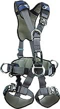 3M DBI-SALA ExoFit NEX 1113346 Full Body Rope Access/Rescue Harness, Alum Back/Front/Suspension D-Rings, Belt w/ Pad/Side D-Rings, Locking QC Leg Straps, Medium, Blue/Grey