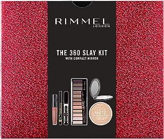 Rimmel The 360 Slay Kit Gift Set (includes Stay Matte Powder, Stay Matte Liquid Lipstick, Wonder Wing Eyeliner, Extra Super Lash Mascara, Magnif'eyes 12 Pan Eyeshadow Palette)