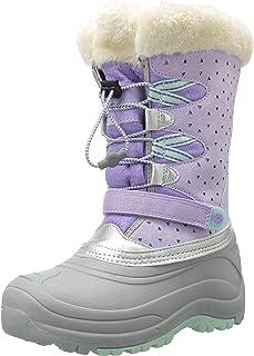 JambuKD Girls Nydia Outdoor Snow Boot, Lilac/Aqua, 5 M US Big Kid