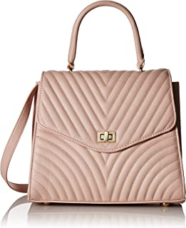 96e912647f Steve Madden Coco Ladies Top Handle Non Leather Satchel with Chevron  Quilting