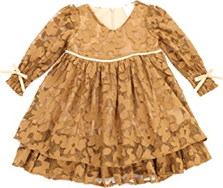 THE SILLY SISSY - Toddlers and Girls Double Ruffles Royal Lace Dress Princess Charlotte (2-7/8)