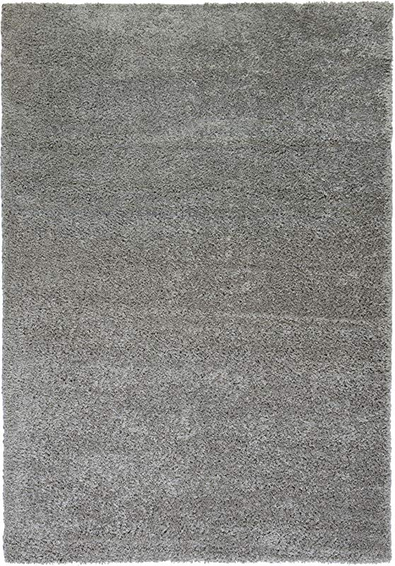 Well Woven Madison Shag Plain Grey Modern Solid Area Rug 5 X 7 2