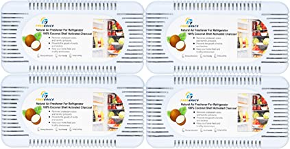 Freegrace Activated Charcoal Air Purifying Bags-4 Pack of 100% Coconut-Shell Carbon Unscented Odor Absorbent Eliminators, Neutralizer for Fridge and Wardrobe, White Box Combo