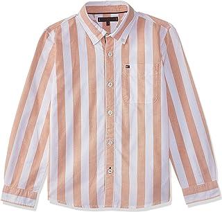 قميص Tommy Hilfiger للأولاد بخطوط أكسفورد L/S بلوزة