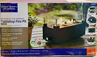 Better Homes & Garden's Tremont Rectangle Gas Burning Tabletop Fire Pit