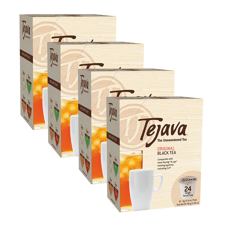 Tejava Unsweetened Original Black Tea Serve K Cups Selling rankings Pods Single New arrival