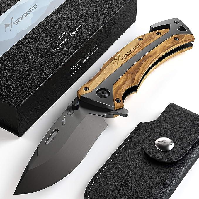 2114 opinioni per BERGKVIST K29 Titanium coltello pieghevole- coltellino tascabile 3 in 1 con
