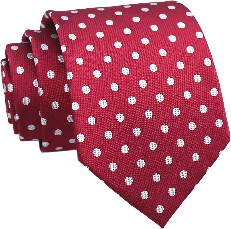 Men's Novelty Ties Flying Ducks Polka Dots Embroidered Handmade Formal Necktie by Elfeves