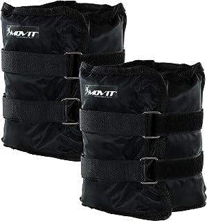 Movit® Twin Set de Pesas para muñeca/Tobillo, Peso del Brazo, Pesas de 0.5kg a 4.0kg, Ejecución de Pesas en 7 Colores/Pesas Diferentes