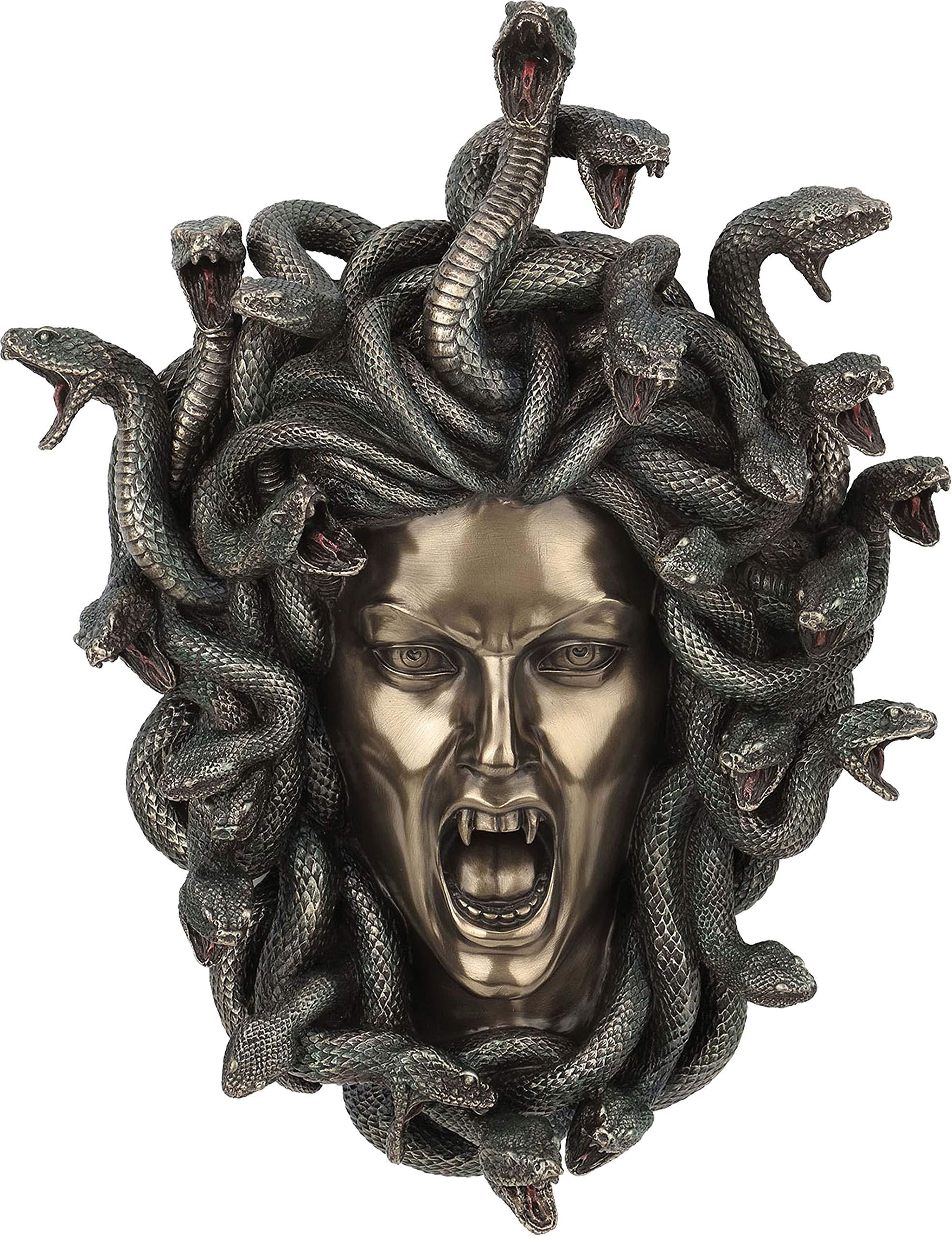 Medusa: Mitología griega arpía (decorativo Escultura de bronce/máscara pared 14.56 cm): Amazon.es: Hogar