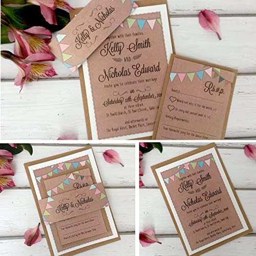 Diy Wedding Invitations Amazoncouk