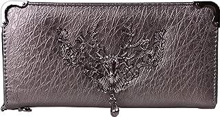 Zip Around Wallet Women's Clutch Wallets Deer Head PU Leather Long Card Holder Purse