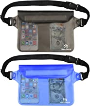 Freegrace Waterproof Pouches Set with Waist/Shoulder Strap - Keep Your Phone and Valuables Dry and Safe – Waterproof Dry Bags for Boating Swimming Snorkeling Kayaking Beach Water Parks Pool Fishing