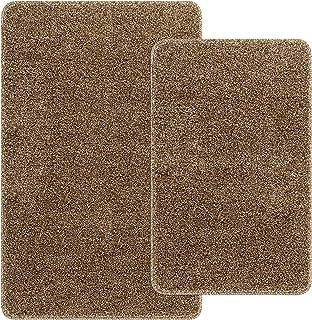 "SHACOS Indoor Doormats 2 Pack Non Slip 18""x30"" + 24""x35"" Soft Absorbent Door Rug Washable Entrance Rug Floor Rug for Kitch..."