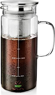 BTäT- Cold Brew Coffee Maker, 1 Quart,32 oz Iced Coffee Maker, Iced Tea Maker, Airtight Cold Brew Pitcher, Coffee Accessories, Cold Brew System, Cold Tea Brewing, Coffee Gift