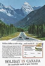 1964 Vintage Print Ad for Canadian Government Travel Bureau | Million Dollar