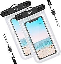 YOSH Funda Impermeable Móvil Universal 2 Unidades, IPX8 Bolsa Impermeable Móvil Funda Sumergible para iPhone XS X 8 7 6 Plus BQ Aquaris Huawei P10 P9 Samsung S7 S8 y Otros Móviles hasta 6.5 Pulgadas