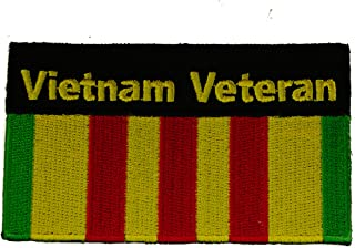 Vietnam Veteran Ribbon Vet Iron or Sew on embroidered Patch