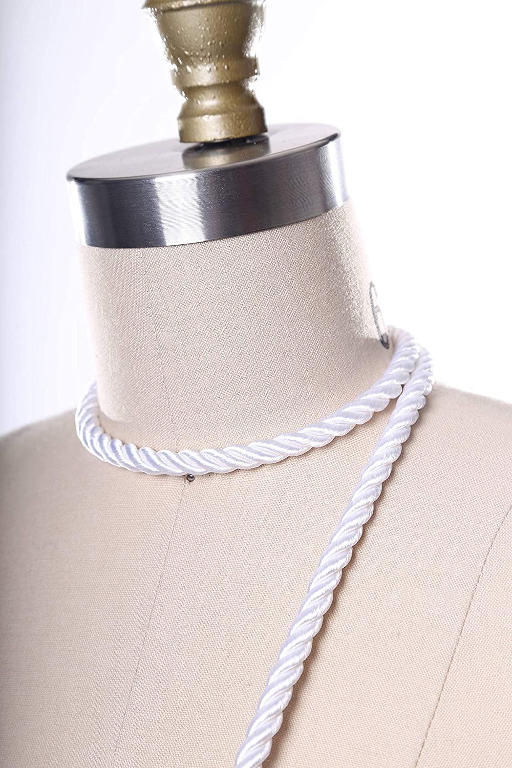 White Satin 2021 new Rope Trim. Tape Max 48% OFF Whi Silky