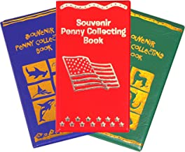 Kangaroo's Penny Holder Book; Souvenir Penny Collecting Books (3-Pack) Museum, Zoo Theme and Sea Life Aquatic, 3 Per Order