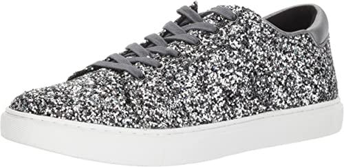Kenneth Cole New York Wohommes Kam Techni-Cole Lace Up paniers Glitter Fashion, Pewter, 9.5 M US