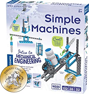 Thames & Kosmos Simple Machines Science Experiment & Model Building Kit, Introduction to Mechanical Physics, Build 26 Mode...