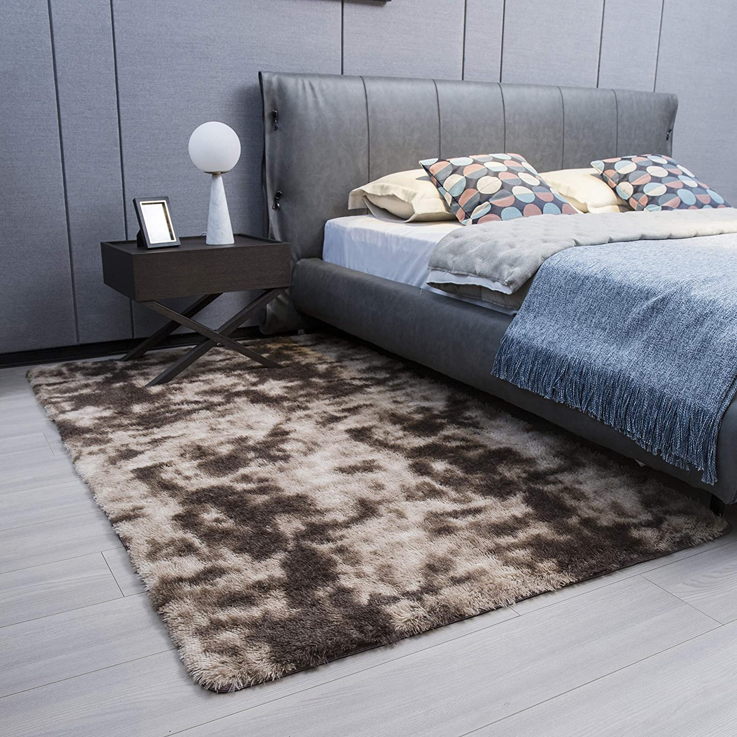 Sinofarms Super Soft Brown Area All Credence stores are sold Rug Living Rugs for Fluffy Room