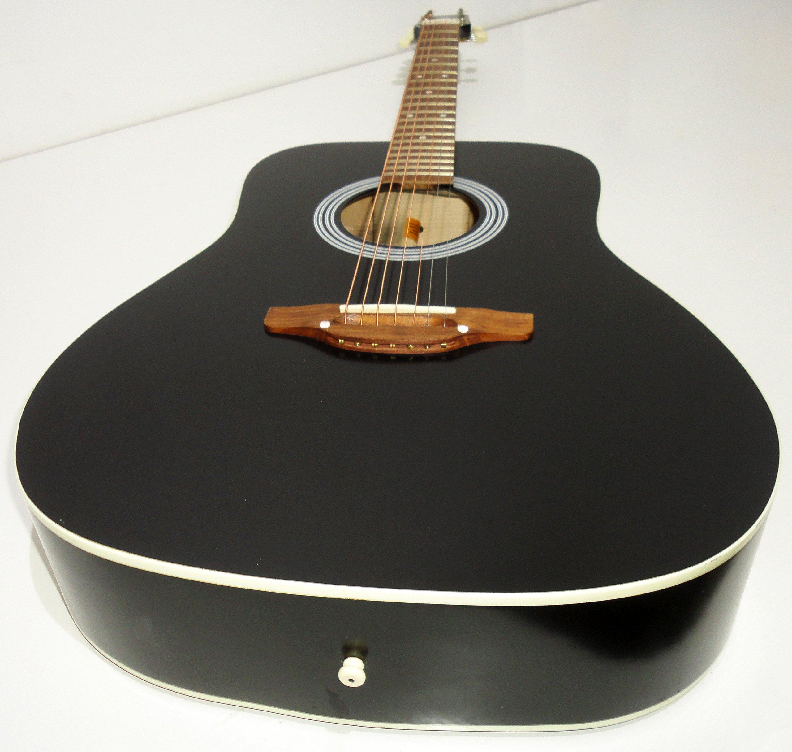 Nuevo Ruso siete 7 cuerdas Guitarra Acústica. Negro Eagle. Gitana ...