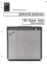 FENDER '93 Super Amp, Guitar Amplifier Service Manual Repair Guide