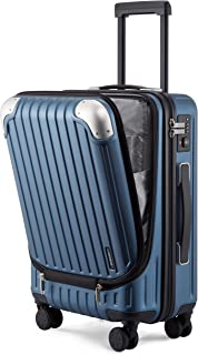 """LEVEL8 Carry-On Luggage, Hardside Suitcase, 20"""" Lightweight ABS+PC Hardshell Spinner Trolley for Luggage with Built-In TSA..."""