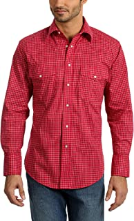 Men's Wrinkle Resist Two Pocket Long Sleeve Snap Shirt