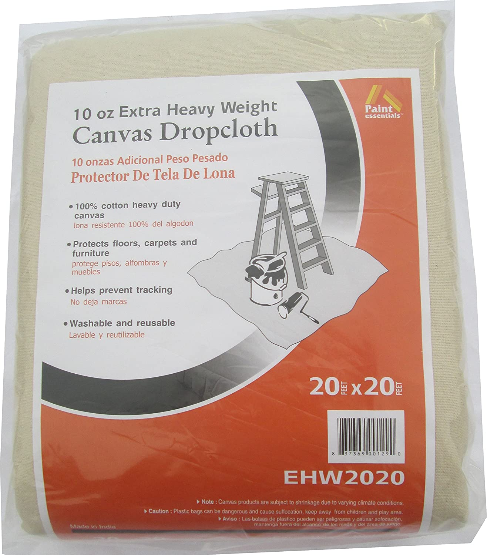Galaxy Products Paintessentials Canvas Drop Cloth 20'X20' 10Oz